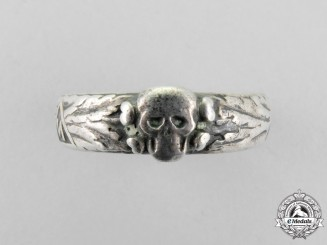 Germany, Third Reich. A Rare SS-Honour Ring (Death's Head Ring)