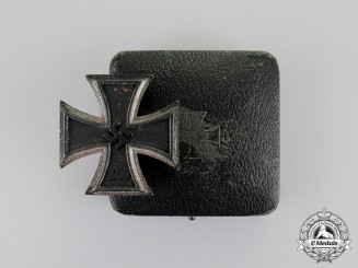 Germany. An Iron Cross 1939 First Class in its Case of Issue by C. F. Zimmermann