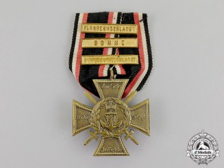Germany. An Imperial Naval Corps Flanders Cross with Three Campaign Bars