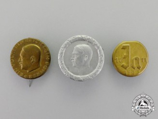 Germany. Three Third Reich Period Badges and Pins