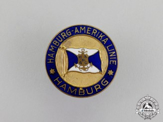 Germany. A Hamburg-America Line Badge, c. 1911