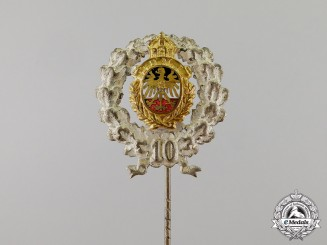 Germany. An Imperial 10-Year Long Service Stick Pin