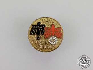 """Germany. A 1942/43 WHW """"Winter Aid"""" Marksmanship Fundraising Competition Badge"""
