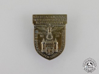 Germany. A 1936 NSDAP Schmalkalden District Council Day Badge by Erbe