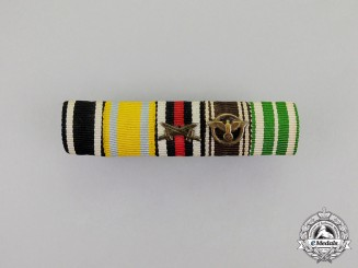 Germany. An Imperial and Third Reich Period Saxon Medal Ribbon bar