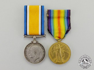 Great Britain. A First War Pair to Private 1st Class Leonard Joseph Parish, Royal Air Force