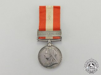 Great Britain. A Canada General Service Medal to the Cornwall Mounted Patrol