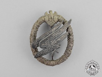 Germany, Wehrmacht. A Parachutist Badge, by Friedrich Linden - Type B