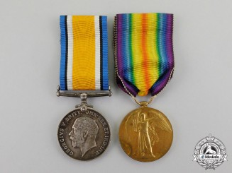 Great Britain. A First War Pair to Private Ernest S. Jenner, Royal Army Medical Corps, Died