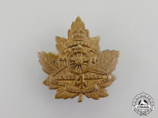 A First War 4th Divisional Ammunition Column Officer's Cap Badge