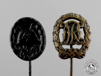 Germany. Two Third Reich Period Miniature Stick Pins