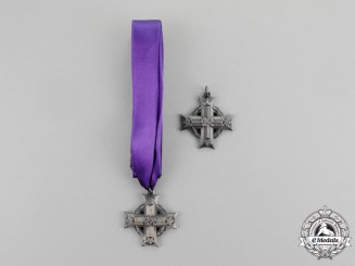 A Pair of Memorial Crosses Issued to the Wife & Mother of Lieutenant Anderson