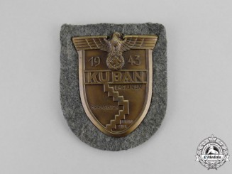 A Mint and Unissued Wehrmacht Heer (Army) Issue Kuban Campaign Shield