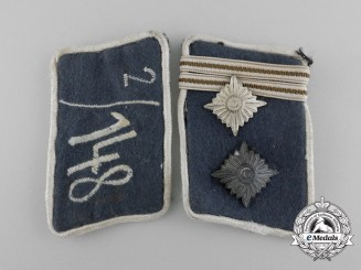 A Set of SA Bavarian Ostmark Obertruppführer Rank Collar Tabs; RZM Tagged
