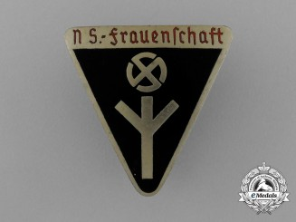 A German National Socialist Women's League Membership Badge; Type III by G. F. Keck & Sohn