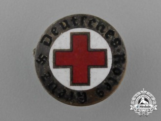 A DRK German Red Cross Lapel Badge