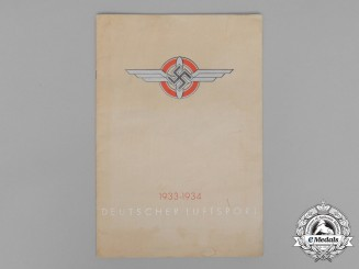 A 1933/34 DLV German Air Sports Magazine in Commemoration for the First Year