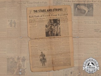 "A July 5th 1944 Issue of ""The Stars and Stripes"""