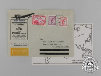 An Interesting 1931 Airmail Envelope Sent from Braunschweig (Germany) to Peiping (China)