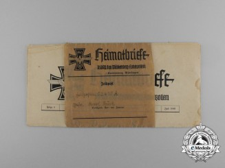 "An NSDAP ""Homeland Letters"" sent as Feldpost to Cpl. Buck; Artillerie-Regiment 178"