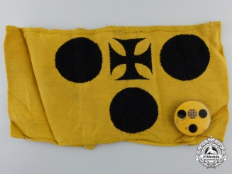 A Rare Second War German Armband for Blinded Combatants