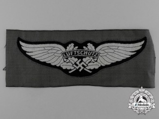 A Mint Luftwaffe-Luftschutz Cloth Side Cap Insignia