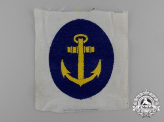 A Mint Kriegsmarine Sports Shirt Insignia