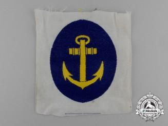 A Mint Kriegsmarine Sports Shirt Insignia