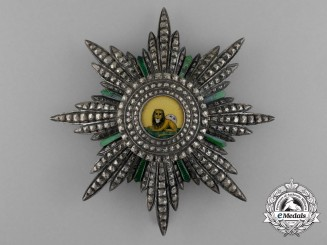 An Iranian Order of the Lion and Sun; 1st Class Breast Star