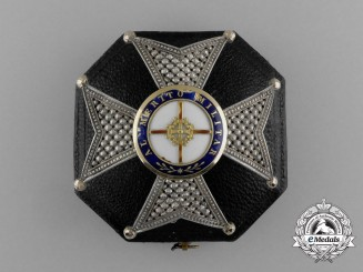 A Fine Portuguese Order for Military Merit; Breast Star with Case