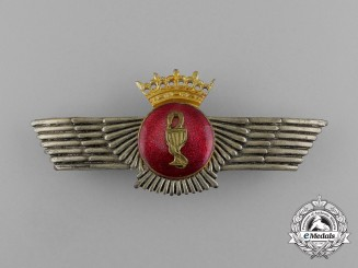 A Spanish Civil War Period Pilot Badge; Franco Era (1936-1975)