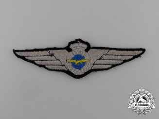 A Second War Finnish Air Force Observer's Wing; Cloth Version