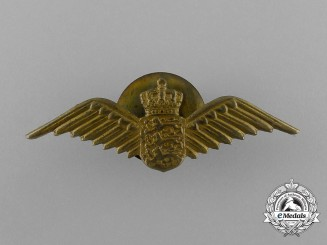 A Royal Danish Air Force Pilot Badge Attributed to Flight Lieutenant Peter Kampmann