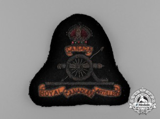 A Royal Canadian Artillery (RCA) Jacket Patch