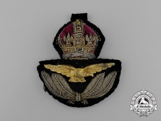 A Royal Canadian Air Force (RCAF) Officer's Cap Badge
