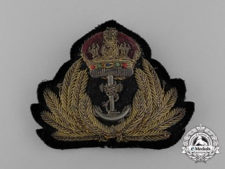 A Royal Canadian Navy (RCN) Officer's Cap Badge
