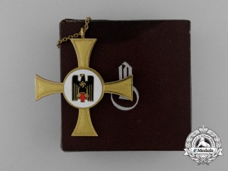 A Gold Grade DRK German Red Cross Sister's Cross in its Original Case of Issue