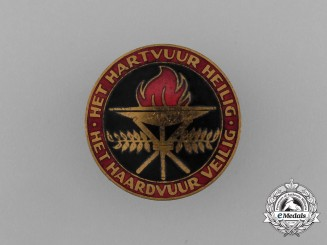 "A NSB National Socialist Movement in the Netherlands ""Sacred Heart of Fire"" Badge"