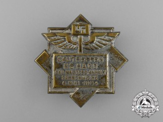 A 1934 National Socialist League for the Commercial Middle Class Meeting Badge