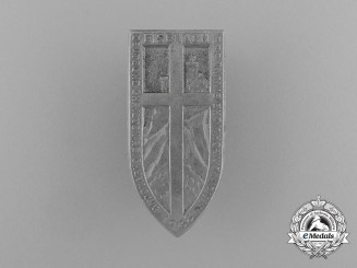 A 1938 German National Christian Reichstagung Badge by Kühr und Langer