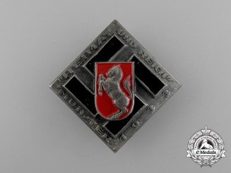 """A 1933 Münster """"Homeland and Reich"""" Badge"""