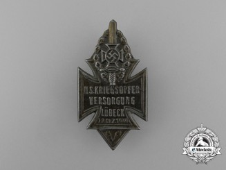 A 1934 NSKOV Lübeck National Socialist War Veteran's Care Badge