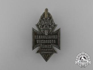 A 1934 NSKOV Lübeck National Socialist War Veteran's Care Badge