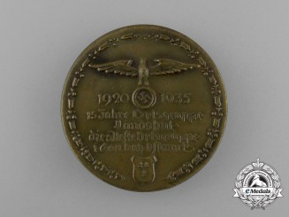 A 1935 15 Years of Ortsgruppe Landshut Anniversary Badge