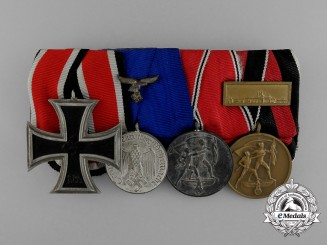 A Luftwaffe Medal Bar of Four