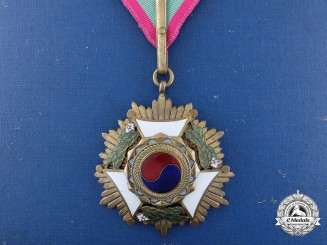 A Korean Order of Diplomatic Service Merit; 3rd Class; Serial Number 1
