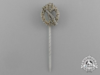 Germany, Heer. A Three-Piece Construction Infantry Assault Badge Stickpin