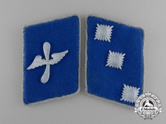 A Mint Set of Matching DLV German Air Sports Association Sturmführer Rank Collar Tabs