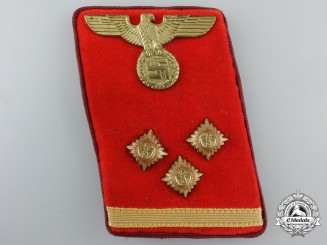 An NSDAP District (Gau) Level OberEinsatzLeiter (Head Action Leader) Collar Tab