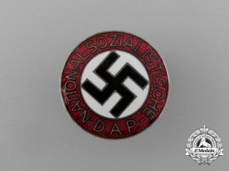 A NSDAP Party Member's Lapel Badge by Gustav Brehmer of Markneukirchen